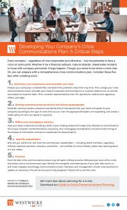 5 Steps to Develop Your Company's Crisis Comms Plan