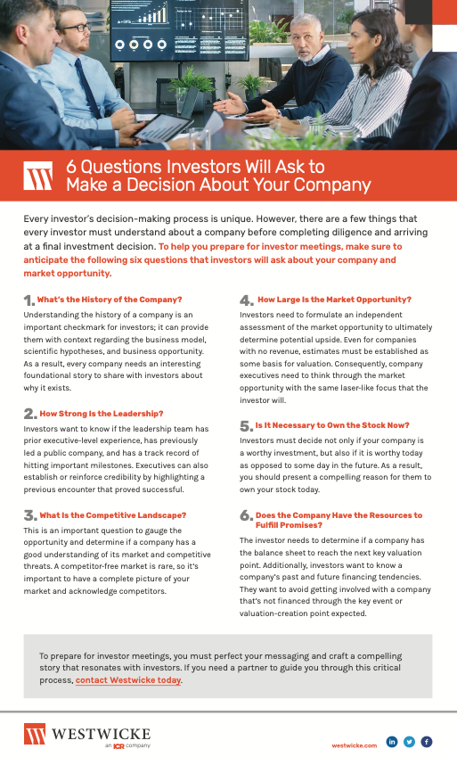 Checklist-6 Questions Investors Will Ask to Make a Decision About Your Company