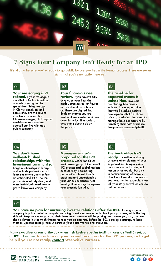 7 Signs Your Company Isn't Ready for an IPO