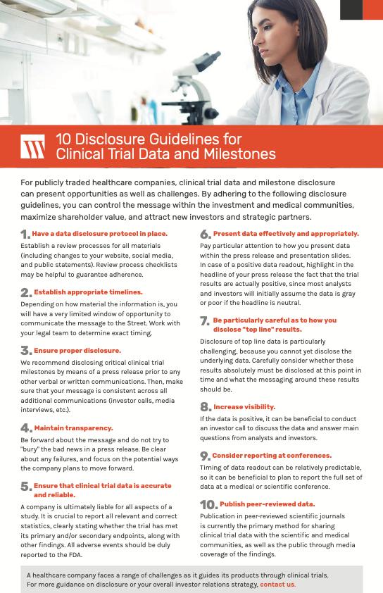 Clinical Trials Disclosure