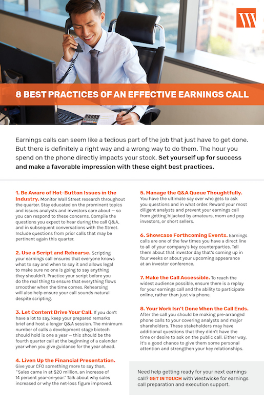8 Best Practices of an Effective Earnings Call