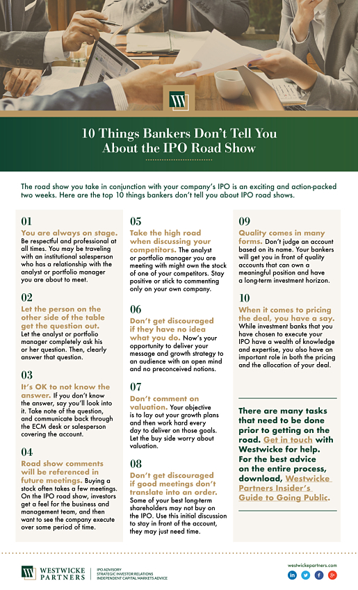 10 Things Bankers Don't Tell You About the IPO Road Show